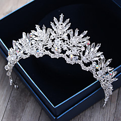 Crystal Rhinestone Alloy Tiaras Headbands Hair Pin Headpiece