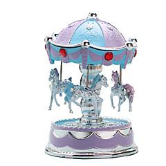 Χαμηλού Κόστους Μουσικό Κουτί-Μουσικό Κουτί Καρουζέλ / Merry Go Round Χαριτωμένο / Φωτισμός Πλαστική ύλη Ευρωπαϊκό Στυλ Παιδικά / Ενήλικες / Παιδιά Γιούνισεξ Δώρο