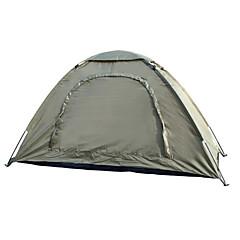"""1 אדם אוהל יחיד קמפינג אוהל חדר אחד אוהל מתקפל עמיד למים נייד ל צעידה קמפינג 2000-3000 מ""""מ סיבי זכוכית אוקספורד CM"""