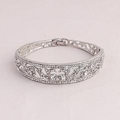 Dames Bangles Modieus Strass Legering Ovalen vorm Sieraden Voor Bruiloft Feest Speciale gelegenheden Verjaardag Verloving Kerstcadeaus1