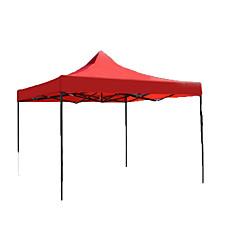 billige Telt og ly-Beskyttelse & Presenning Med enkelt lag Stang Telt med flere rom Telt Ett Rom  utendørs Vanntett  til Camping Jern