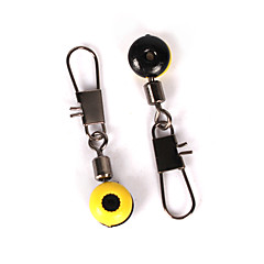 Anmuka 50Pcs Fishing Line to Hook Swivels Shank Clip Connector Interlock Snap Connector Sea Fishing Lure Beans Belt