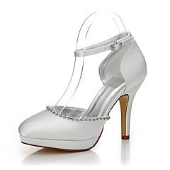 baratos Sapatos de Casamento-Mulheres Sapatos Seda Outono / Inverno Sapatos Dyeable / Sapatos clube / Conforto Saltos Salto Agulha Dedo Fechado / Ponta Redonda