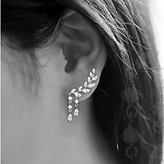 Women's Stud Earrings Tassel Costume Jewelry Fashion Alloy Leaf Jewelry For Party Birthday Daily