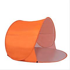 billige Telt og ly-2 personer Strandtelt Telt Enkelt camping Tent Ett Rom Vanntett Bærbar Vindtett Regn-sikker Komprimering Pusteevne til Camping &