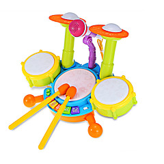 cheap Toy Instruments-LED Lighting Drum Set Toy Musical Instrument Drum Set Jazz Drum Kid's