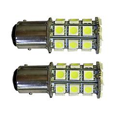 hesapli -2pcs 1157 27 * 5050smd led araba ampulü beyaz ışık dc12v