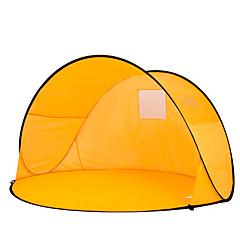 billige Telt og ly-2 personer Telt Enkelt camping Tent Ett Rom Strandtelt Bærbar Ultraviolet Motstandsdyktig til Camping Reise Glassfiber CM