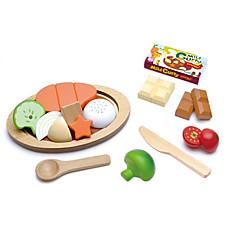 billiga Leksakskök och -mat-Toy köksutrustning Leksaksmat Leksakskök och -mat Leksaker Cirkelrunda Frukt- och grönsaksskärare Frukt och grönt Magnet Trä Barn Present