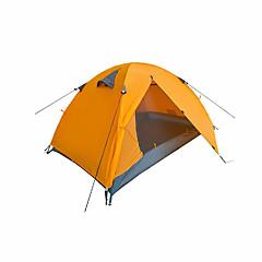 2 personer Telt Dobbelt camping Tent Ett Rom Brette Telt Fukt-sikker Velventilert Vanntett Bærbar Vindtett Ultraviolet Motstandsdyktig