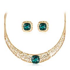 tanie Zestawy biżuterii-Damskie Biżuteria Ustaw - Modny, euroamerykańskiej Zawierać Naszyjnik Złoty Na Ślub / Impreza / Specjalne okazje