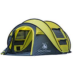 GAZELLE OUTDOORS 3-4 사람 텐트 싱글 캠핑 텐트 원 룸 텐트 팝업 방수 방풍 자외선 방지 폴더 용 하이킹 캠핑 유리 섬유 옥스포드 CM
