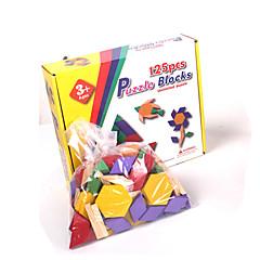 Stavební bloky Puzzle Dřevěné puzzle Hračky Obdélníkový Üçgen Dětské 1 Pieces