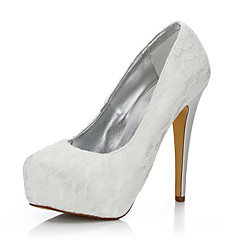 cheap Wedding Shoes-Women's Shoes Silk Tulle Winter Fall Comfort Club Shoes Wedding Shoes Stiletto Heel Round Toe Closed Toe for Wedding Outdoor Office &