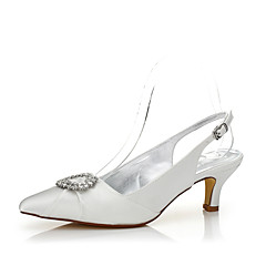 cheap Wedding Shoes-Women's Shoes Silk Spring / Fall Dyeable Shoes / Comfort Wedding Shoes Low Heel Pointed Toe Sparkling Glitter for Wedding / Office &