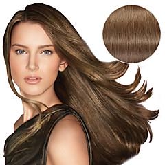 Χαμηλού Κόστους Deluxe Hair-Κουμπωτό Επεκτάσεις ανθρώπινα μαλλιών Ίσιο Φυσικά μαλλιά Ash Μπράουν