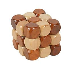 baratos -Quebra-Cabeças de Madeira Quebra-Cabeças Inteligentes Quebra-Cabeça Luban Teste de QI De madeira Unisexo Para Meninos Para Meninas Brinquedos Dom
