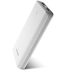 billige Eksterne batterier-20000mAh Power Bank Eksternt batteri 5V 1A / 2A Batterilader Lommelykt / med kabel / Flere utganger LED