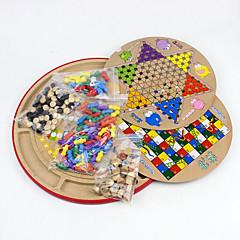 Deskové hry Chess Game Vzdělávací hračka Hračky Kulatý Dřevo Pieces Dětské Dárek