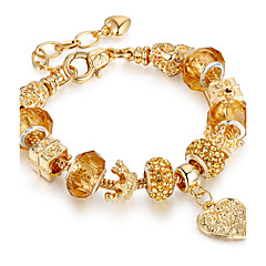 cheap Bracelets-Women's Gold Plated Heart Strand Bracelet - Luxury Friendship Movie Jewelry Round Circle Geometric Gold Bracelet For Christmas Gifts