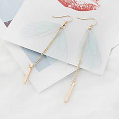 女性用 ドロップイヤリング ファッション 欧米の 銅 ファブリック 翼 / 羽 ジュエリー のために パーティー 1ペア