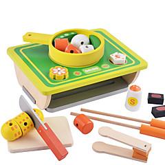Tue so als ob du spielst Toy Foods Holz Kinder