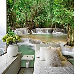 billige Tapet-vannfall egendefinert 3d stor veggdekorasjon veggmaleri tapet passer kaffe rom soverom kjøkken utsikt