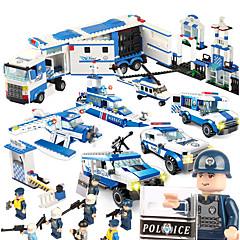 Stavební bloky Hračky Válečná loď Letadlo Policie Armáda Udělej si sám Unisex Pieces