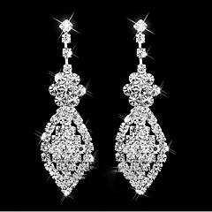 Kadın's Damla Küpeler Sallantılı Küpe Yapay Elmas Eşsiz Tasarım Sallantılı Stil alaşım Geometric Shape Mücevher UyumlulukDüğün Parti Özel