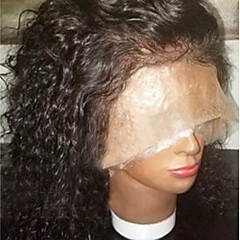 cheap Human Hair Wigs-Human Hair Lace Front Wig Brazilian Hair Curly 130% Density With Baby Hair African American Wig Natural Hairline Short Medium Long Women's