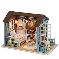 LED osvětlení Sada na domácí tvoření Music Box Hračky Udělej si sám Dům Pryskyřice Dřevo Papír Pieces Dětské Narozeniny Dárek
