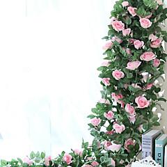 povoljno Svijet dekora-Umjetna Cvijeće 1 Podružnica Pastoral Style Roses Zidno cvijeće