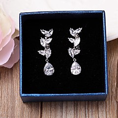 Clip Earrings AAA Cubic Zirconia Tassel Drop Jewelry ForWedding Party Anniversary Birthday Gifts