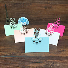 cheap Place Cards & Holders-40pcs Birthday cake Laser Cut Baby Shower Party Table Name Place Cards Wedding Invitations Table Name Card Party Decoration