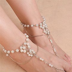 Women's Anklet/Bracelet Imitation Pearl Fashion Flower Silver Gold Women's Jewelry For Daily Casual 1pc