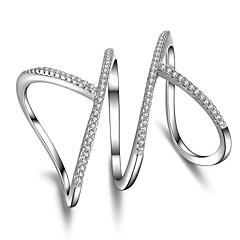 levne -Prsteny s kamenem Kubický zirkonJedinečný design Geometrický Euramerican Velké šperky minimalistický styl Vánoční Klasický Punkový styl