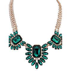 Női Nyaklánc medálok Nyakláncok Nyilatkozat nyakláncok utánzat Diamond Ékszerek Üveg ÖtvözetAlap Egyedi Medál Függő Szerelem Szív