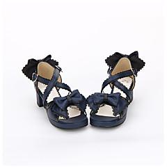 Încălțăminte Lolita dulce Clasic/Traditional Lolita lolita Prințesă Confecționat Manual Toc Îndesat Nod Papion lolita 4.5 CM Alb Albastru