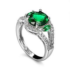 בגדי ריקוד גברים טבעת אזמרגד סינתטי עיצוב מיוחד אופנתי Euramerican זירקון אזמרגד סגסוגת תכשיטים תכשיטים עבור חתונה אירוע מיוחד
