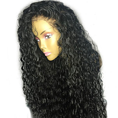 levne Paruky z přírodních vlasů-Přírodní vlasy Paruka Brazilské vlasy Kudrny 130% Hustota S dětskými vlasy Bezlepkové Přírodní vlasová linie Krátký Střední Dlouhý Dámské