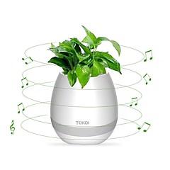 tanie -Głośnik doniczki bezprzewodowa bluetooth 4.0, dioda LED świetlna, fortepianowy pulpit głośnikowy