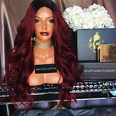 cheap Wigs & Hair Pieces-Remy Human Hair Glueless Lace Front Lace Front Wig Brazilian Hair Body Wave Ombre Wig 180% Density with Baby Hair Ombre Hair Natural Hairline African American Wig 100% Hand Tied Ombre Women's Short