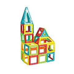 Bildungsspielsachen Holzpuzzle Magnetische Blöcke Magnetische Gebäude-Sets Spielzeuge Quadratisch Dreieck Unisex Jungen Stücke