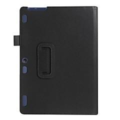 Voor case hoesje met tribune flip full body case solide kleur zacht pu leer voor lenovo tab2 a10-70f / lca10-30f tb3-x70f