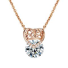 abordables -Femme Cœur Amour Cœur Pendentif de collier Plaqué or Pendentif de collier , Mariage Soirée Fiançailles
