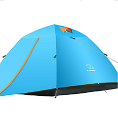 LINGNIU® 3-4 Persoons Tent Dubbel Kampeer tent Eèn Kamer Backpackingtenten waterdicht Houd Warm Regenbestendig Zonbescherming voor