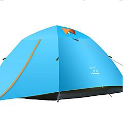 "LINGNIU® 3-4 אנשים אוהל כפול קמפינג אוהל חדר אחד אוהלים לטיפוס הרים עמיד למים שמור על חום הגוף מוגן מגשם קרם הגנה ל 2000-3000 מ""מ בד"