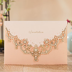 Hülle U0026 Taschenformat Hochzeits Einladungen 10 Einladungskarten Klassicher  Stil Geprägtes Papier