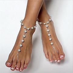baratos -Mulheres Tornezeleira/Pulseiras Imitação de Pérola Cobre Moda bijuterias Bola Jóias Para Diário Roupas para Lazer Para Noite