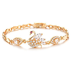 Women's Chain Bracelet 18K Gold Plated AAA Cubic Zirconia Fashion Vintage    Jewelry For Wedding Anniversary Party/ Daily